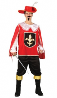 Musketeer Costume - Red (EM3162)